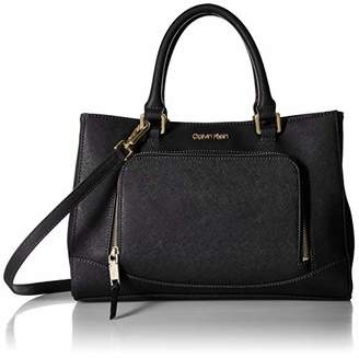 Calvin Klein Hudson Saffiano Leather East/West Satchel