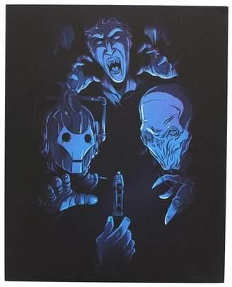Doctor Who Nerd Block Villans 8x10 Art Print, Blue (Nerd Block)
