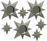 JCPenney Set of 7 Gold-Tone Stars Mirror Wall Decor