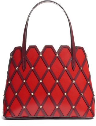 Valentino Small Beehive Leather Tote