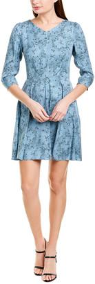 Rebecca Taylor Gianna Silk A-Line Dress