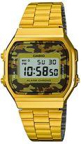 Casio A168wegc-5ef Unisex Gold Bracelet Watch
