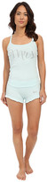 Betsey Johnson Bridal Rib Graphic Short Set