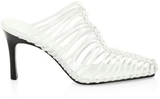 3.1 Phillip Lim Sabrina Cage Leather Mules