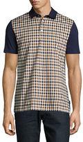 Aquascutum Dillon Check Short Sleeve Polo Shirt