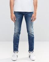Diesel Sleenker Skinny Jeans 857B Vintage Wash