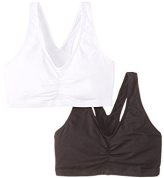 Hanes Womens 2 Pack ComfortFlex Fit Cotton Pullover Bra, Style H570