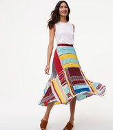 LOFT Petite Cabana Pleated Maxi Skirt