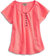 Lucky Brand Amelia Peasant Top