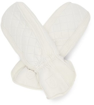 Toni Sailer Lizzy Quilted Leather Mittens - White