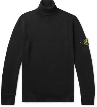 Stone Island Logo-Appliqued Cotton-Blend Sweater