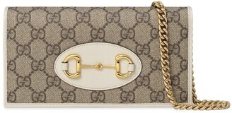 Gucci 1955 Horsebit chain-strap wallet