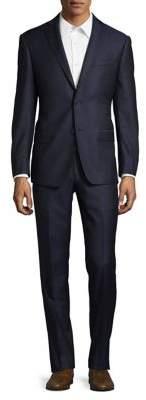 Michael Kors Birdseye Wool Suit Jacket