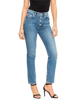 Balenciaga High Waisted Skinny Tube Jean