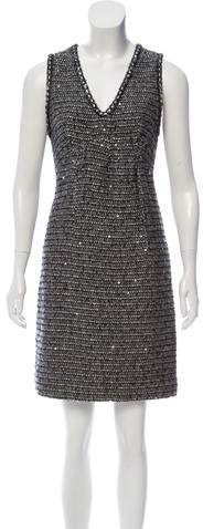 Chanel Embellished Tweed Dress