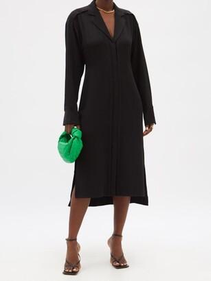 Proenza Schouler Hammered-crepe Shirt Dress - Black
