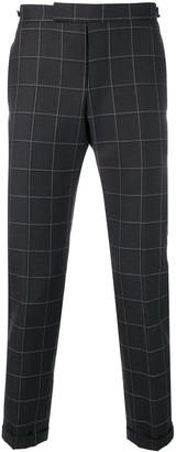 Thom Browne Windowpane Shadow Check Trouser