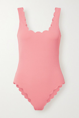 Marysia Swim Palm Springs Scalloped Stretch-crepe Swimsuit - Coral