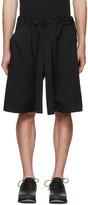 Phoebe English Black Tie Front Shorts