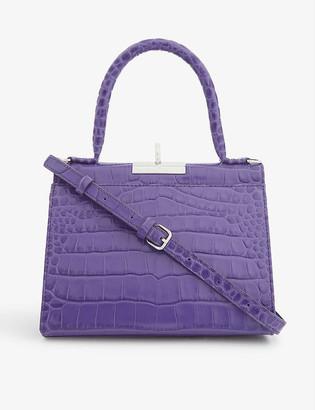 Gu De Play croc-embossed leather top-handle bag