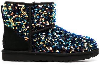 UGG Stellar sequin-embellished ankle boots