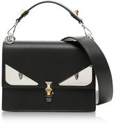 Fendi Kan I Black Leather Crossbody Bag w/Studs