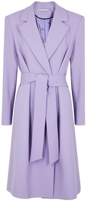 Alice + Olivia Irwin lilac wool coat