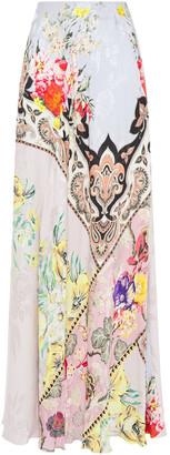 Etro Patchwork-effect Floral-jacquard Maxi Skirt