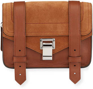 Proenza Schouler PS1 Mini Luxe Leather & Suede Satchel Bag