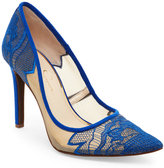 Jessica Simpson New Cobalt Camba Lace Pointed Toe Pumps