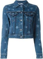 Valentino star print denim jacket