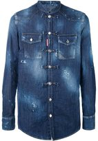 DSQUARED2 collarless denim shirt