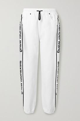 Alexander Wang Striped Denim Track Pants - White