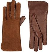 Barneys New York Women's Suede Gloves-BROWN