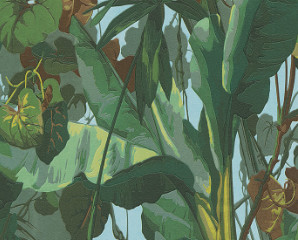 Fred & Mardonio - Jungle Wallpaper - Green/Blue