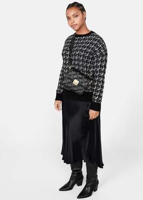 MANGO Violeta BY Flap cross-body bag black - One size - Plus sizes