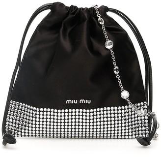 Miu Miu Crystal Embellished Drawstring Pouch