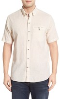Cutter & Buck Men's Big & Tall 'Cove Stripe' Regular Fit Linen & Cotton Sport Shirt