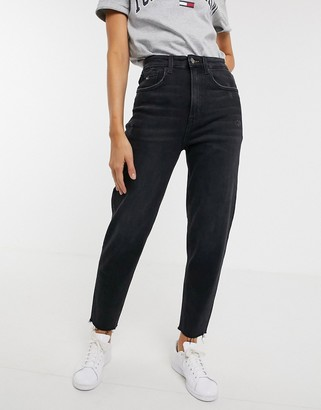 Tommy Jeans high waist mom jean-Black