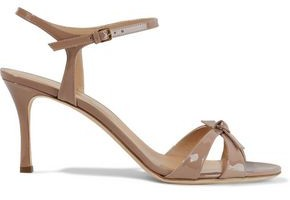 Sergio Rossi Isobel Knotted Patent-leather Sandals