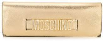 Moschino rhinestone logo strap clutch