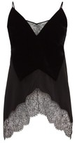 Givenchy Lace-trimmed Velvet Camisole - Womens - Black