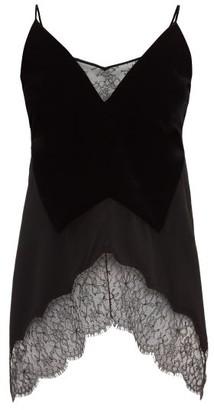 Givenchy Lace-trimmed Velvet Camisole - Black