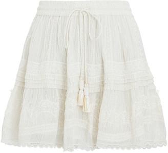Rococo Sand Zuri Lurex Chiffon Mini Skirt