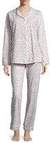 BedHead Lynx-Print Classic Pajama Sets, Pink/Gray