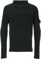 Stone Island fitted roll neck sweater
