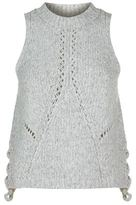 3.1 Phillip Lim Cropped Pointelle Knit Tank Top