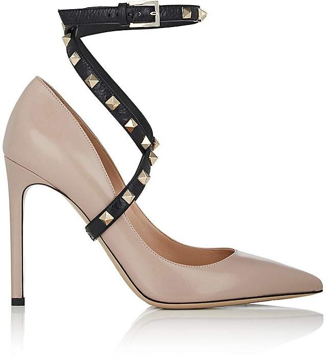 Valentino Women's Rockstud Leather Wraparound-Strap Pumps