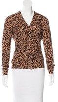 Dolce & Gabbana Leopard Printed Virgin Wool Cardigan