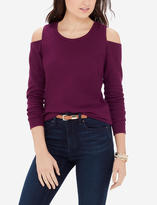 The Limited Cold Shoulder Ribbed Sweater